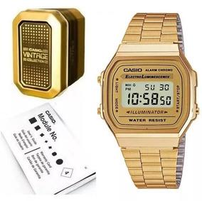 6a90b4644e45 Reloj Casio Dorado A168 De Moda - Relojes en Mercado Libre México