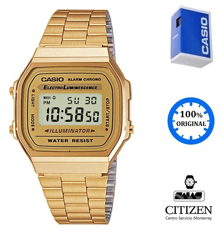 acc1b4aadb23 Reloj Casio Vintage A168 Unisex Dorado  watchsalas  -   1