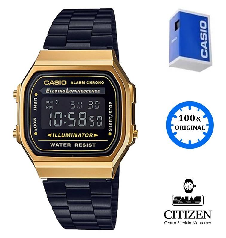 f40cef6dfefe Reloj Casio Vintage A168 Unisex Negro  watchsalas  -   1