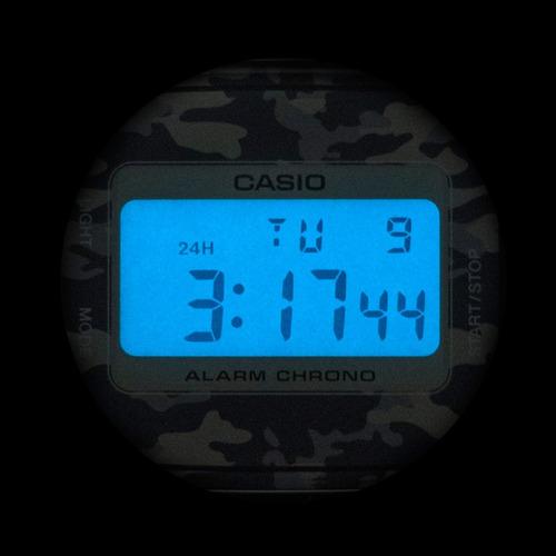 reloj casio vintage a168wec-1 plateado militar