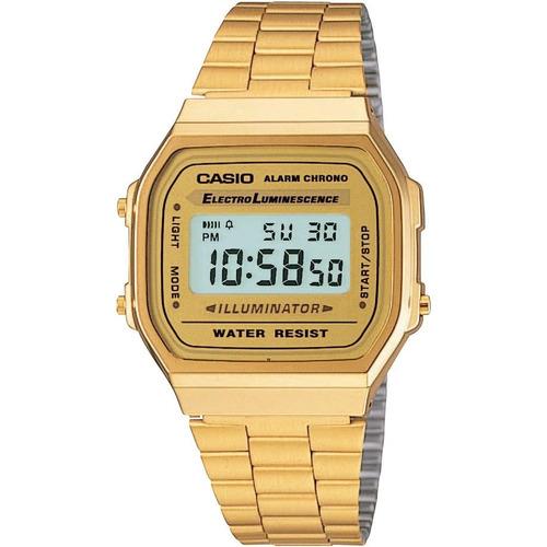 reloj casio vintage a168wg-9 acero inoxidable dorado