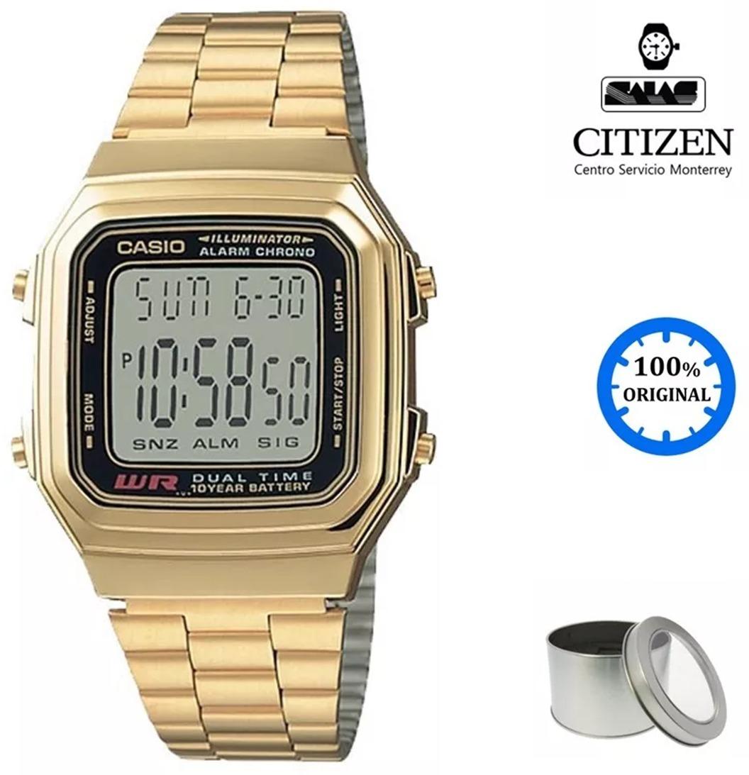ba4a6d5f7451 reloj casio vintage a178 unisex retro dorado  watchsalas . Cargando zoom.