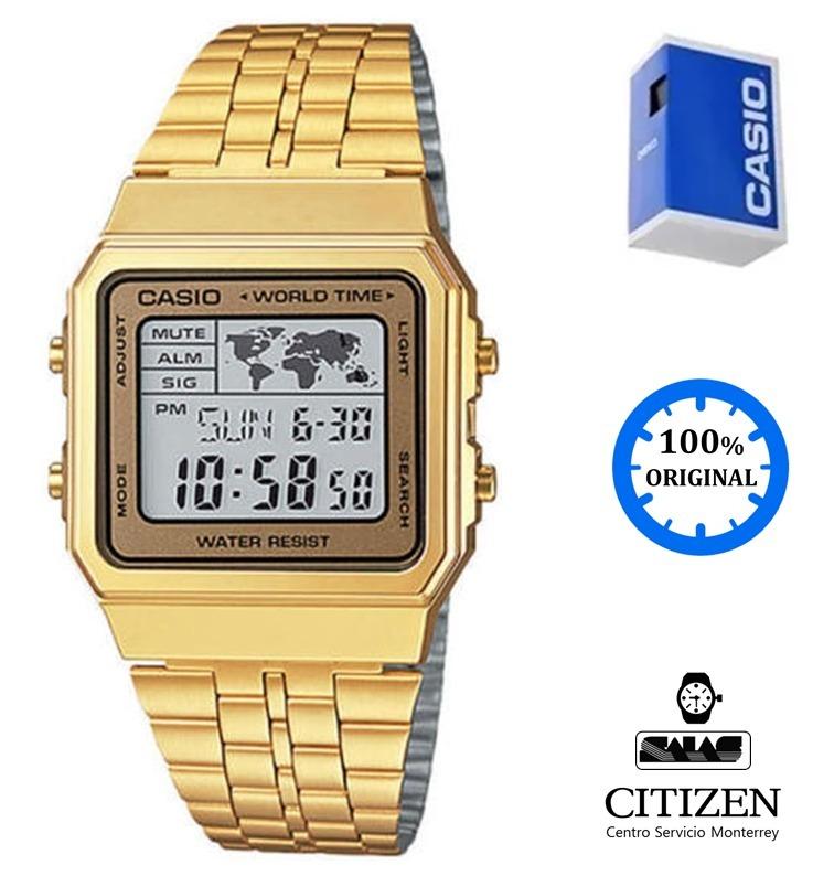 cfd3570cb9f7 Reloj Casio Vintage A500 Unisex Dorado  watchsalas  -   1