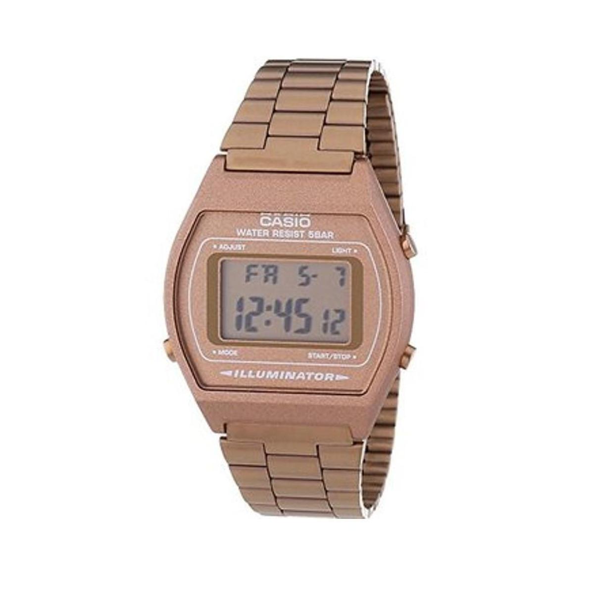 60ea655ec7ee reloj casio vintage b640 caballero acero inoxidable-cobre. Cargando zoom.