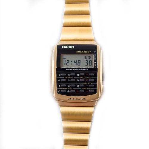 reloj casio vintage ca-506g-9a clásico calculadora