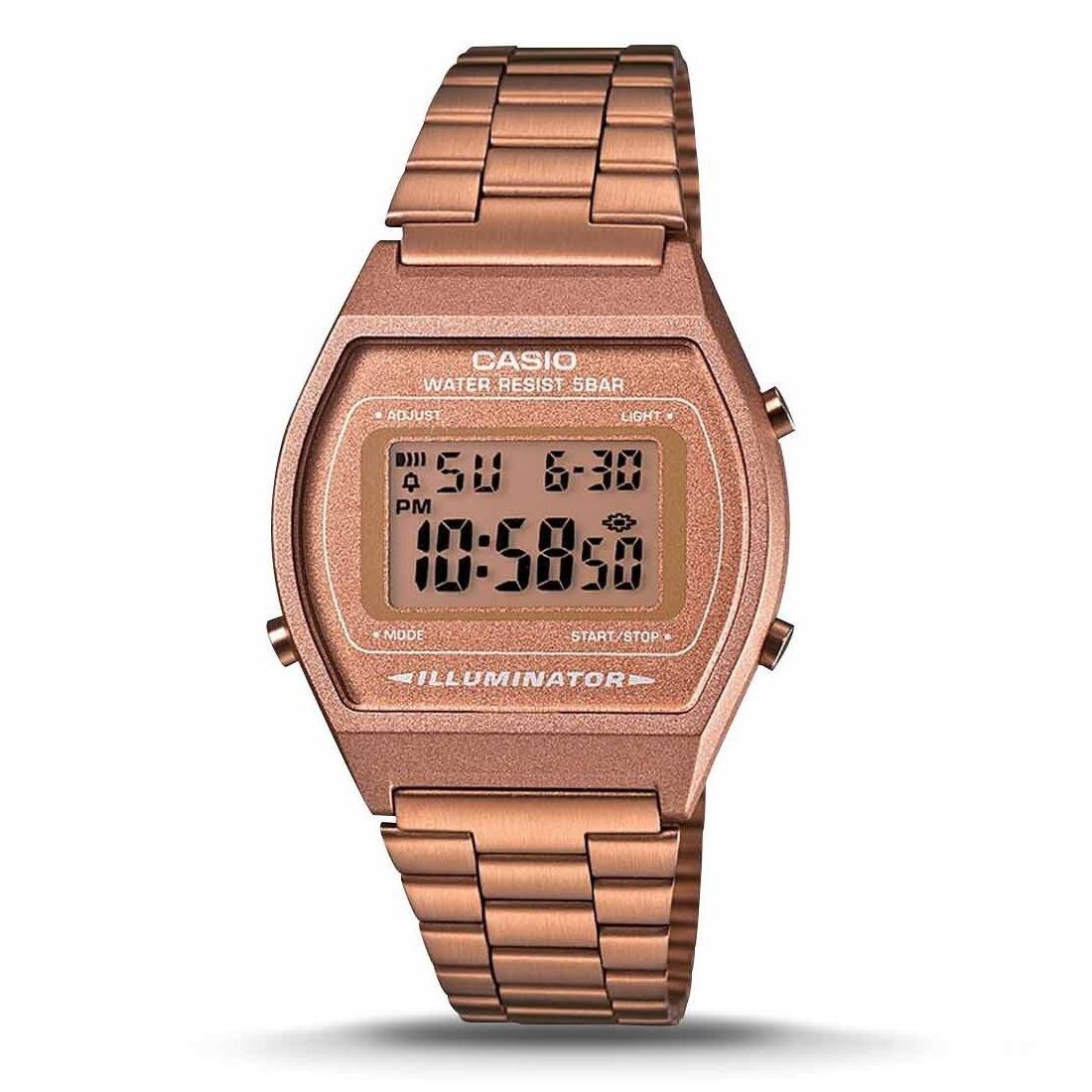 2945b15da8ae reloj casio vintage digital dama b640wc-5a oro rosa. Cargando zoom.
