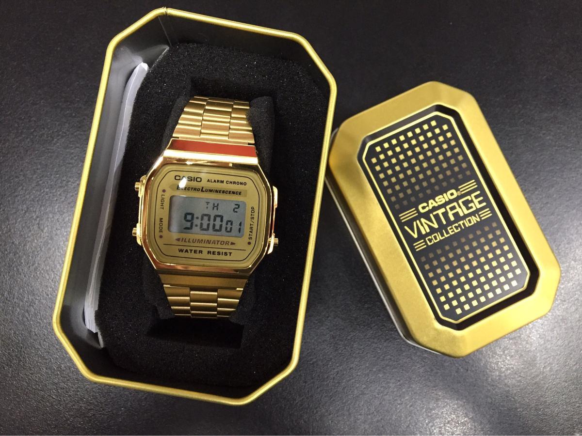 1bfc28d71233 reloj casio vintage dorado a168wg-9vt original con estuche. Cargando zoom.