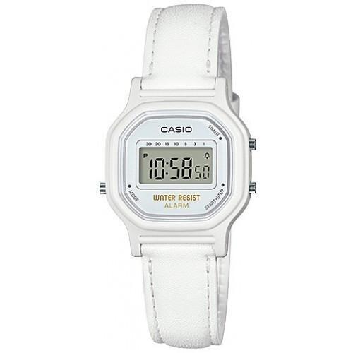Reloj de cuero blanco mujer