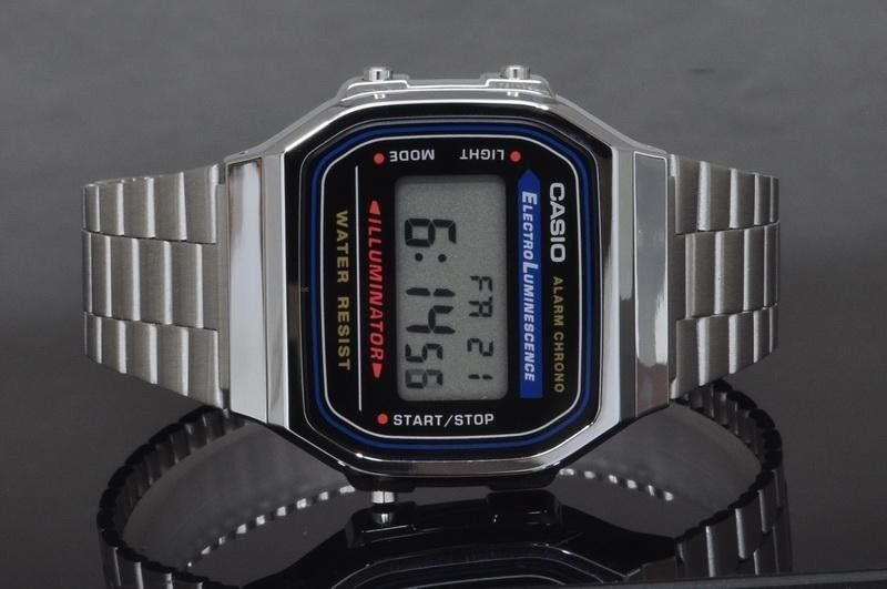 1cdef0215f92 Reloj Casio Vintage Modelo A168 Plata -   600.00 en Mercado Libre