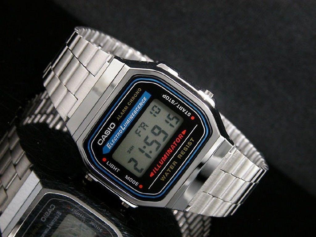 ad4bc6377d40 Reloj Casio Vintage Modelo A168 Plata -   600.00 en Mercado Libre