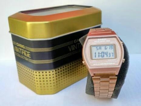 005dc8c35fdd Reloj Casio Vintage Modelo B640 Cobre -   1
