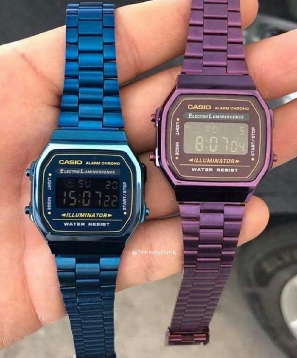 6ae1cc5b879 Reloj Casio Vintage Morado + Envio Gratis -   389.00 en Mercado Libre