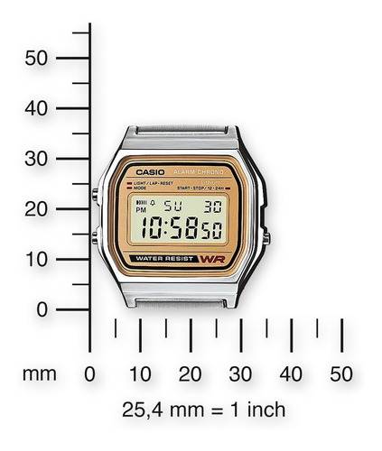 reloj casio vintage original a158wea-9vt time square