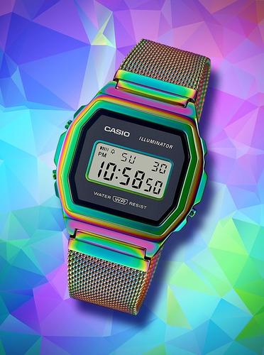 reloj casio vintage rainbow a1000rbw-1cr