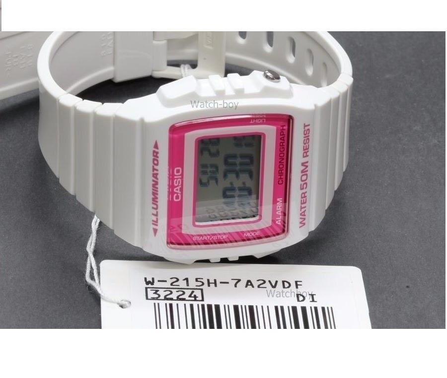 dc5bd3e0fbdb reloj casio vintage w-215h-7a2 sumergible 50m mujer blanco. Cargando zoom.