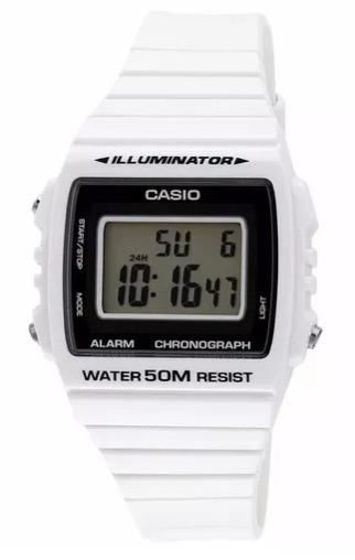 d4d2d8845b7b Reloj Casio W-215h-7a - Clásico Digital - Color Blanco -   2.359
