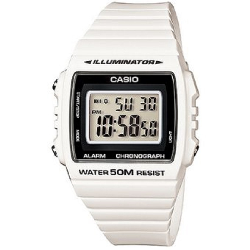 Mujer Blanco Para 7a Digital Casio 215h Reloj W BeCxdo