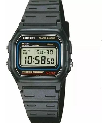 reloj casio w-59 digital sumergible 50m luz cronometro
