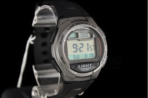 reloj casio w734-1a hombre digital led sports watch w/ lap m