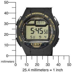 reloj casio w734-9av men's banda negra 60 lap memory tempori