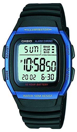 27aad148bde7 Reloj Casio W96h Hombre Color Azul Correa Negra Envio Gratis ...