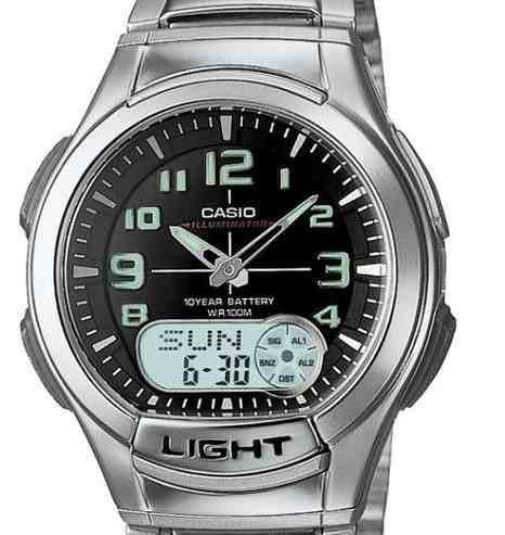 reloj casio wca776 plateado
