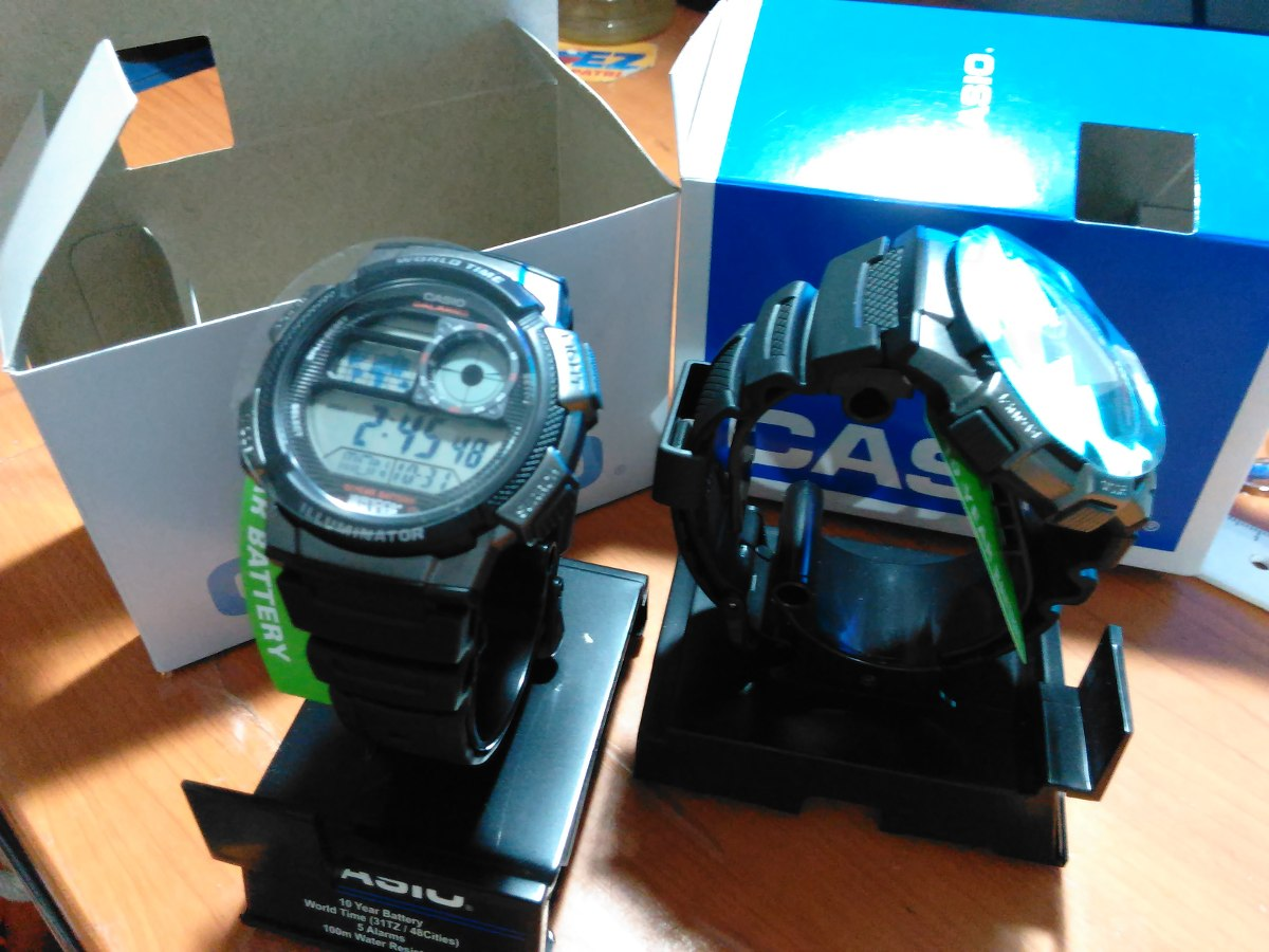 Reloj Casio World Time Ae1000w 1b Bs 002 En Mercado Libre Ae 1000w 1a Original Cargando Zoom