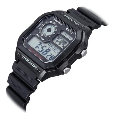 reloj casio world time chrono alarm ae1200wh1avdf | original