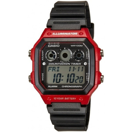 reloj casio world time chrono alarm ae1300wh4avdf | original