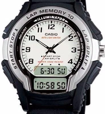 reloj casio ws 300 original 1 año de garantia doble hora