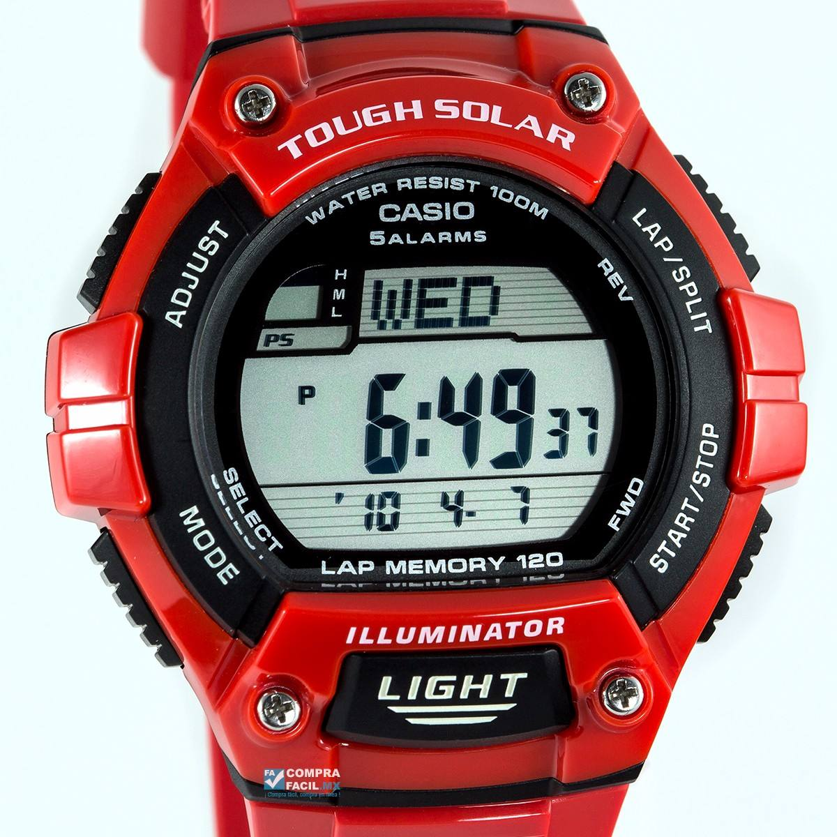 5b3def2d0cec reloj casio ws220 rojo - 120 memorias - solar - cfmx. Cargando zoom.