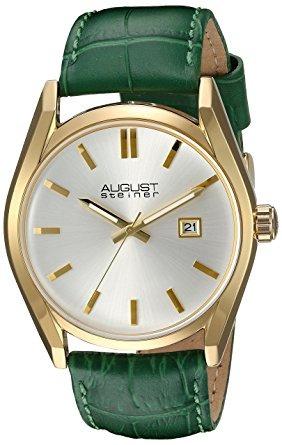 reloj caso dorado del agosto steiner de la mujer con esfera