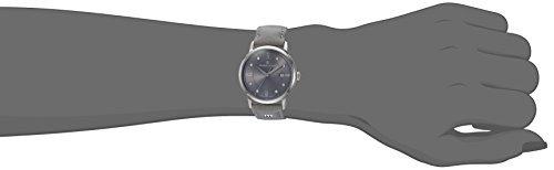 reloj casual de acero inoxidable y cuero de cuarzo suizo mau