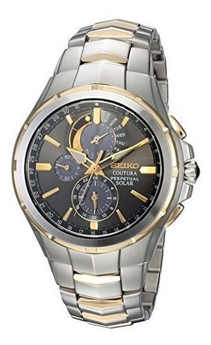 reloj casual de cuarzo de acero inoxidable coutura para homb