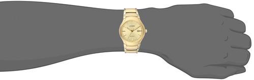 reloj casual de cuarzo de acero inoxidable para hombre citiz