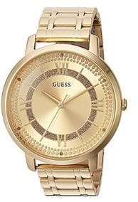 Tono Mujer Inoxidable De Dorado Reloj Acero Casual Guess Nwm8n0Ov