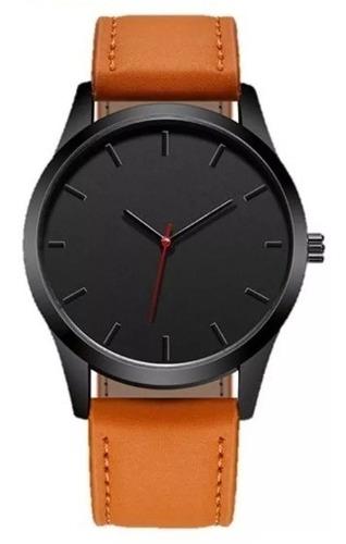 reloj casual elegante caballero con extensible y acabado café muy atractivo