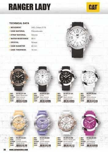 reloj cat dama ranger lady p2 341 24 434