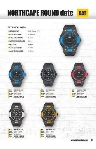 reloj cat hombre northcape round date n5 169 21 121