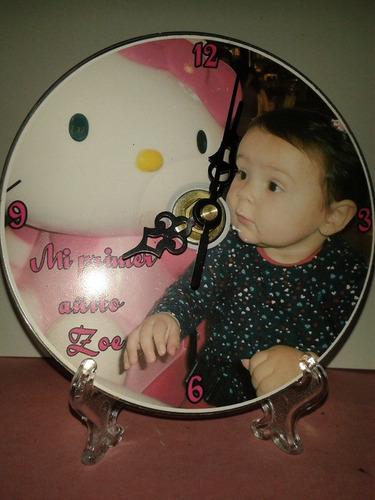 reloj cd personalizado souvenir atril bolsa y moño de regalo