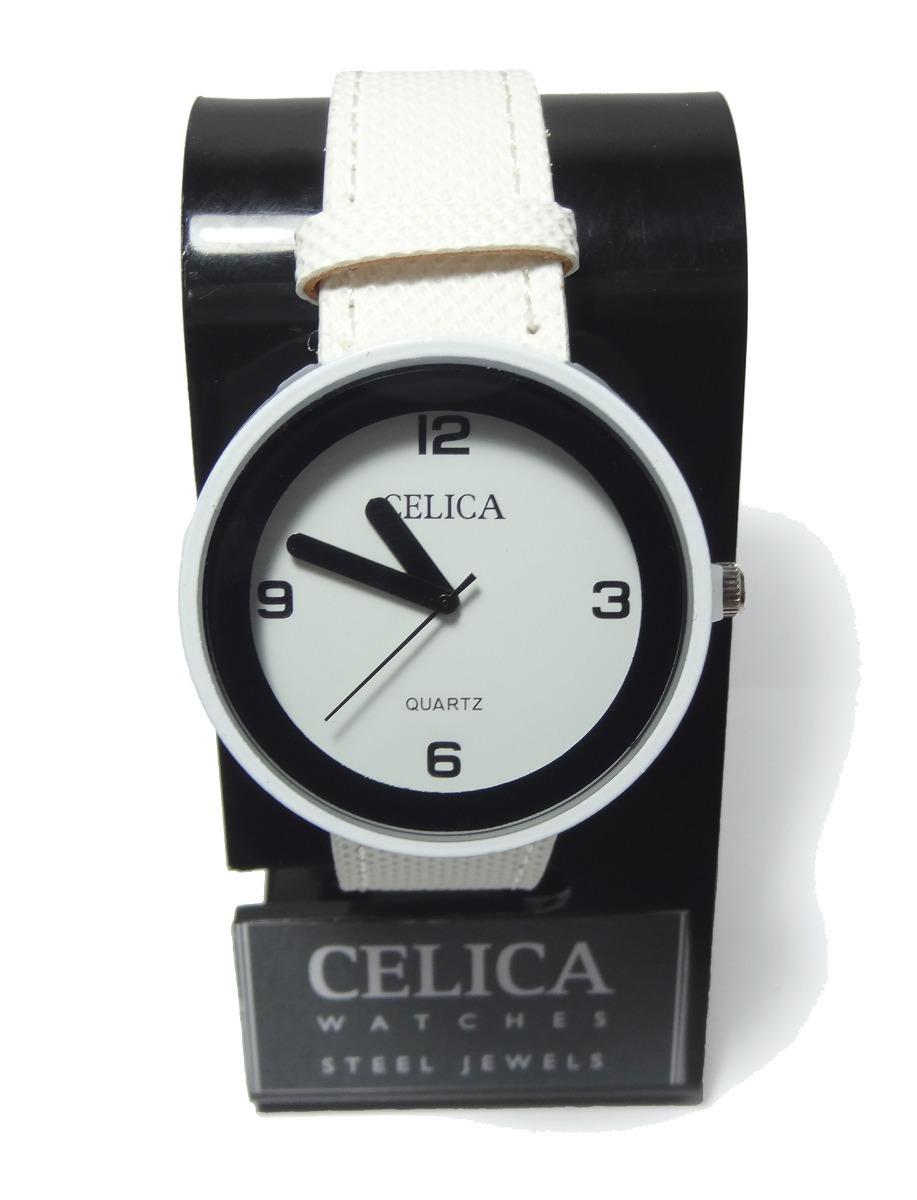 8d3560491a30 reloj celica dama correa símil cuero garantia blanco 73-005b. Cargando zoom.
