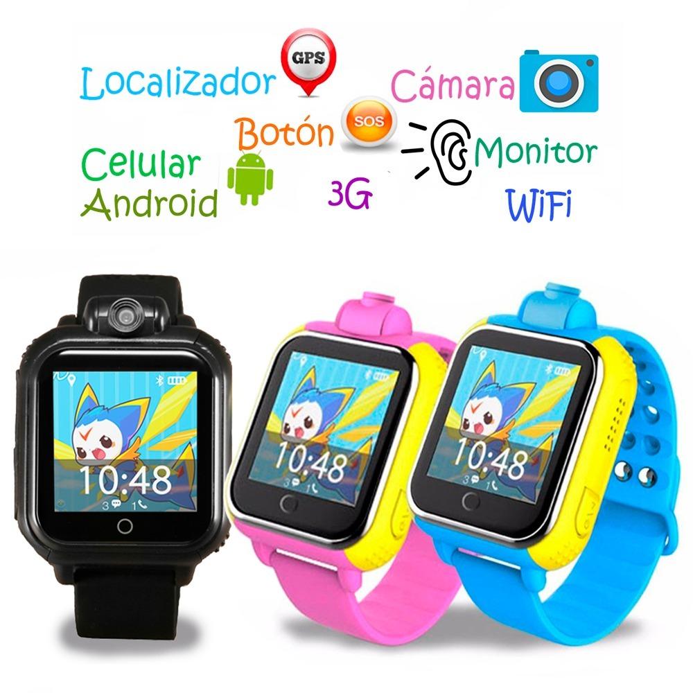 2b1e43156 Reloj Celular Android Localizador Gps Con Cámara Para Niños ...
