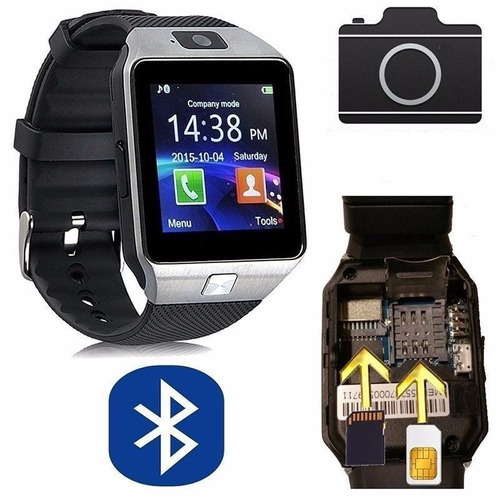 reloj celular smart watch chip camara bluethooth touch sd