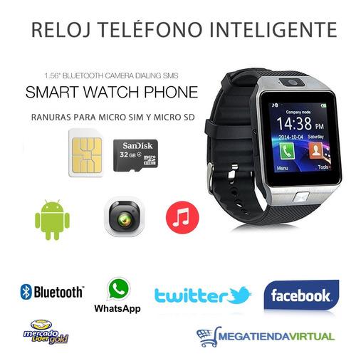 reloj celular smartwach+manos libres bluetooth+envio gratis