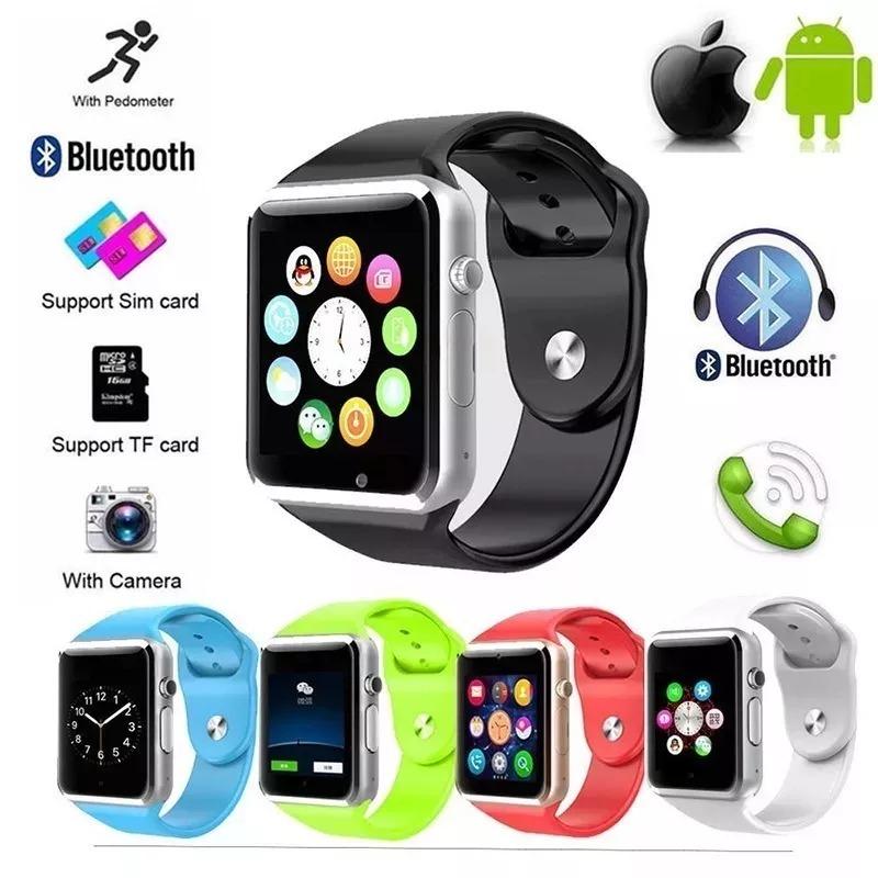 Reloj Celular Smartwatch Camara Microsd A1 Colores Telcel -4012