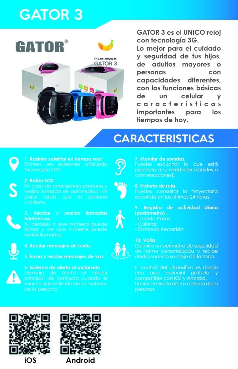 Reloj Celular Y Gps Para Niños Y Adultos Mayores Unico 3g ...
