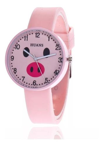reloj cerdito de moda varios colores reloj puerquito