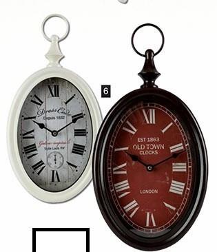 reloj chapa oval vintage