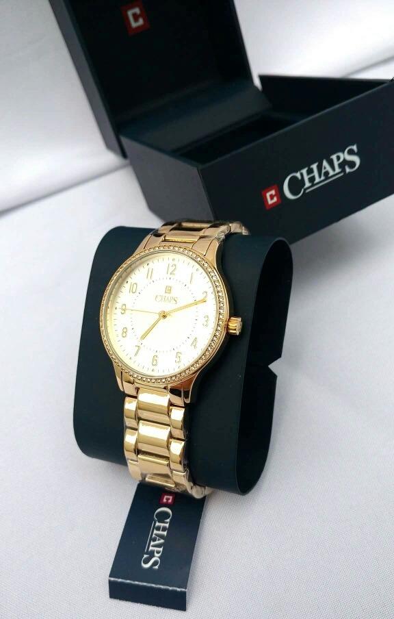 Original Dorado Dama Chaps Reloj Nuevo Mod H92WDIEY