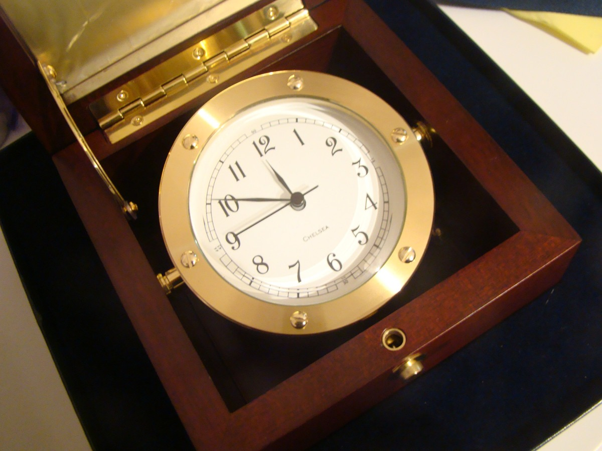 Lujo De Coleccion Cronometro Chelsea Barco Caja Marino Reloj lF3KJTc1